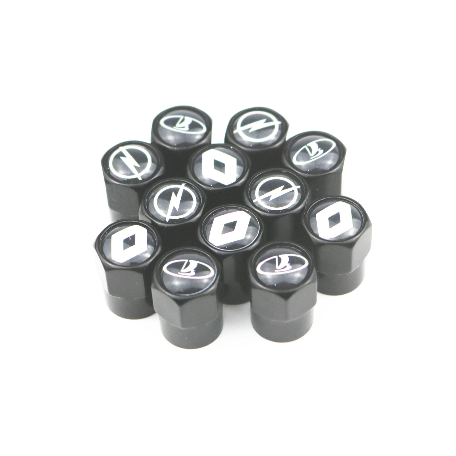 800pcs Car Metal Wheel Tire Valve Caps Stem Case For Renault Toyota Mazda Ford Opel Opel Chevrolet Audi Bmw Car Accessories