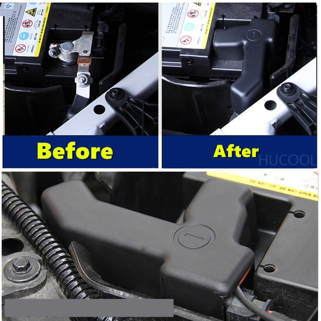For Cadillac XT5 2015-2017 Car battery negative protection cover engine battery rust cover car modification accessories 2