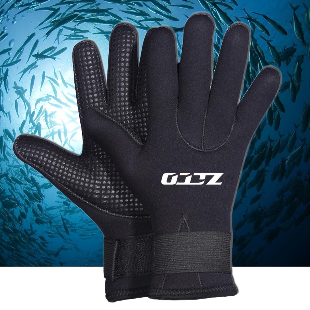 5MM Neoprene Scuba Dive Gloves Swim Gloves Snorkeling Equipment Anti Scratch Keep Warm Wetsuit Material Winter Swim Spearfishing
