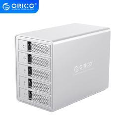 ORICO 95 serie 5 Bay 3,5 ''USB3.0 SATA HDD estación de acoplamiento con 150W de potencia carcasa de disco duro Cubierta para SSD y HDD para disco duro PC