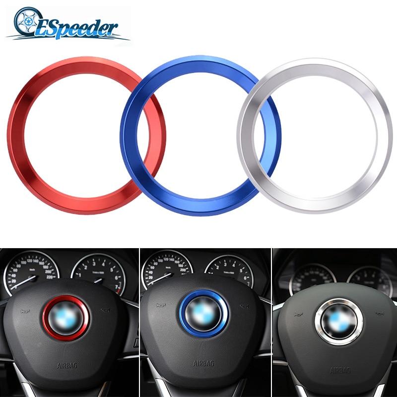 ESPEEDER Auto Styling Decoratie Ring Stuurwiel Trim Cirkel Sticker Voor BMW M3 M5 E36 E46 E60 E90 E92 X1 f48 X3 X5 X6