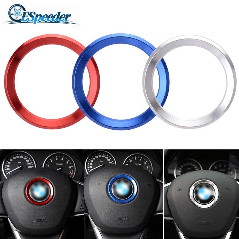 ESPEEDER Car Styling Decoration Ring Steering Wheel Trim Circle Sticker For BMW M3 M5 E36 E46 E60 E90 E92 X1 F48 X3 X5 X6