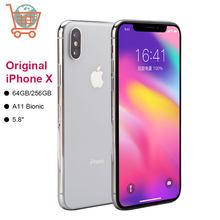 Apple – authentique smartphone iPhone X 64 ou 256 go débloqué, téléphone portable, 3 go de RAM, processeur Hexa Core, écran de 5.8 pouces, iOS, double caméra arrière de 12 mpx, connectivité 4G LTE