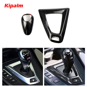 Carbon Fiber Gear Shift Knob Cover for BMW M2 F87 M3 F80 M4 F82 F83 M5 F10 F85 X5M F86 X6M F12 F13 Accessories Car Styling