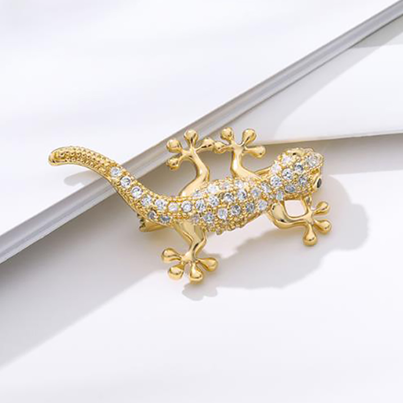 Men Accessories Zircon Brooch Crystal