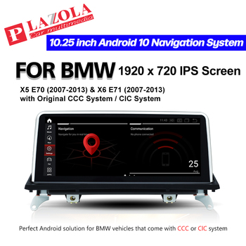 Qualcomm Car Multimedia GPS Player For BMW X5 Series E70 X6 Series E71 2007-2013 Android 10.0 CCC CIC System CarPlay Navigation image