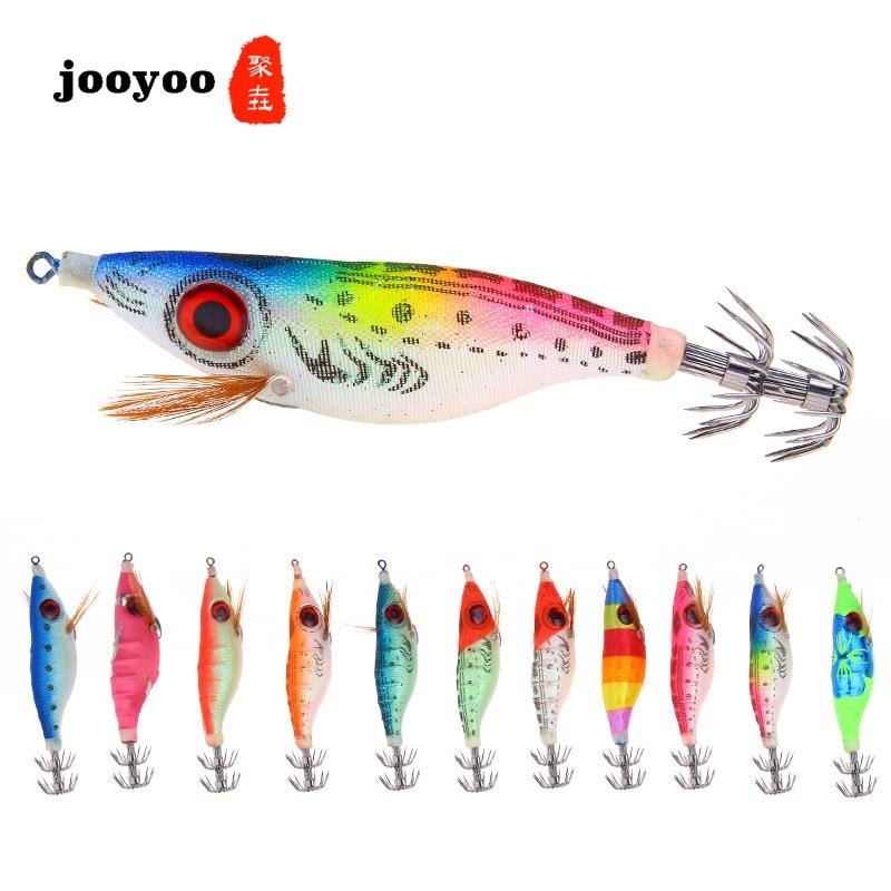 Jooyoo Luminous Lure Bait Color Artificial Bionic Wood Shrimp Big Eye Shrimp Hard Bait 9.2g/10cm Outdoor Fishing Gear Fish Bait