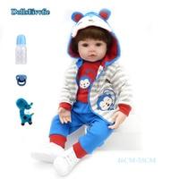 BeBe Rebron doll 48cm silicone realistic bebe regeneration doll boy girl toy surprise children's day gift Reborn boncas