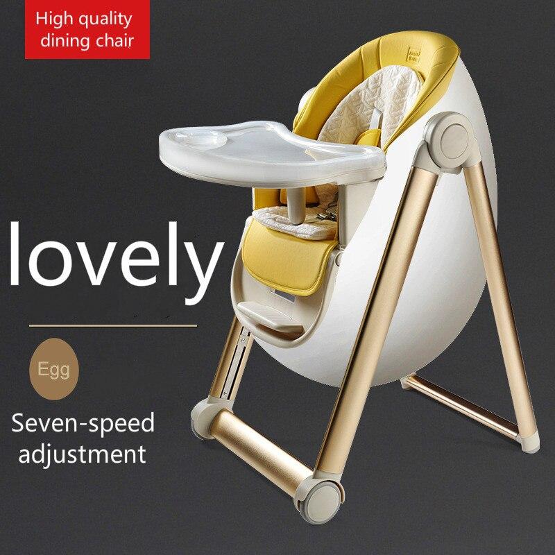 Роскошный многофункциональный портативный стол для детского автокресла обеденный стол Регулируемый складной высокий стульчик для кормле