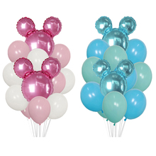"""12pcs/lot mickey minnie mouse Foil Balloons 10"""" pink blue"""