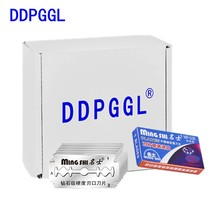 DDPGGL Men Double Edge Stainless Steel Ultra Sharp Safety Razor Blades For Shaving Razor Blades Replacement Blade 5pcs/lot