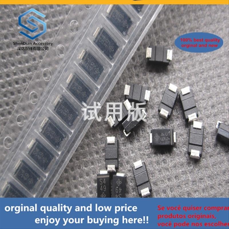50pcs 100% Orginal New Best Quality SMD SS14-6605HE3_A H SMA Silk Screen S4 SMD Schottky Diode 1A40V SMA