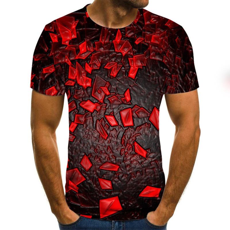 Summer Three-dimensional 3D vortex T-shirt Men Women Fashion 3D T Shirt Short Sleeve Harajuku Hip Hop Cute Tshirt 4