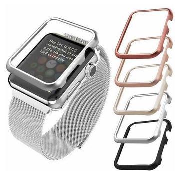 Wysokiej dobrej jakości obudowa pokrywa dla Apple obserwować 42mm 38mm 40mm 44mm dla serii iwatch se 6 5 4 3 2 1 metalowa rama ochronna przypadku tanie i dobre opinie dalan CN (pochodzenie) 20 cm STAINLESS STEEL Nowy z metkami For apple watch 1 2 3 4 5 6 se band case