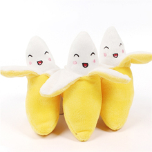 DogLemi Pet Supply Toys Connotation BB device Vocalization Dog Banana Shape Cat Toy Lnteractive