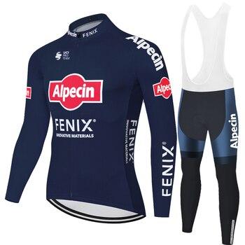 Alpecin fenix-Camiseta de ciclismo para hombre, pantalones de ciclismo de montaña con...