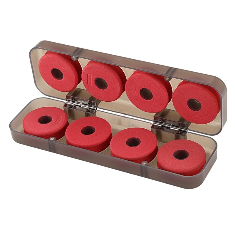 8Pcs Durable Red Foam Winding Board Fishing Line Wire Shaft Bobbin Spools Tackle Box Gift