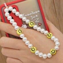 Correa de cordón para teléfono móvil, accesorios de perlas simuladas para teléfono móvil, cadena perdida, regalo, novedad de 2021