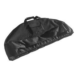 Ultra Ringan Berburu Memanah Kanvas Senyawa Busur Tas Carry Case dengan Panah Pocket Handle & Tali 45.3
