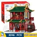 3046 шт Китай город создатель улица Roadhouse 01022 модель строительные блоки игрушки Кирпичи совместимы с Lago
