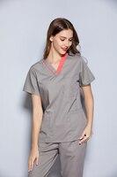 2020 New fashion design colourful women's medical scrub set spa shop medical uniform dental clinic nurse uniforms
