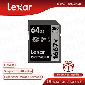 Image 1 - Original Lexar 32GB SD Card 1000x 150MB/s 128GB Memory Card 16GB 64GB Carte SD Class10 cartao de memoria UHS II U3 SDHC SDXC