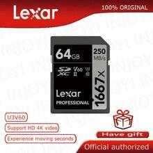 Oryginalna karta pamięci Lexar 32GB 1000x 150 MB/s 128GB karta pamięci 16GB 64GB karta SD Class10 cartao de memoria UHS II U3 SDHC SDXC