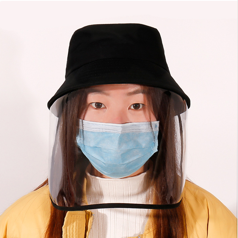 Virus Stopped Mask Hat Goggles Dust Cover Full Face Cap Protection Anti-droplet Cover Hat Mask Virus-resistant Protectiv Caps