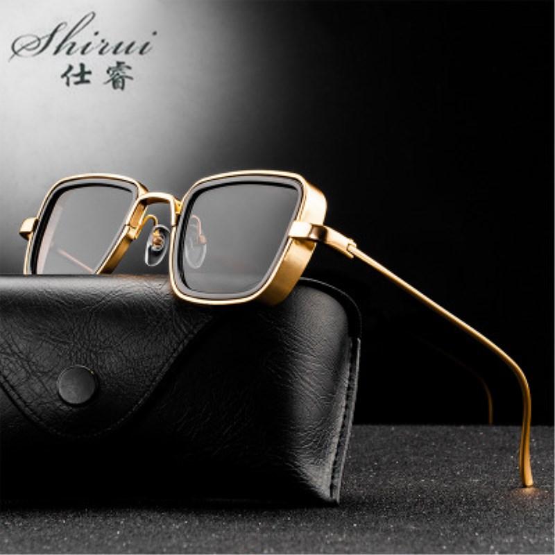 Классические готические стимпанк Солнцезащитные очки , сплав , для мужчин и женщин, фирменный дизайн, Ретро стиль, квадратная металлическая ...