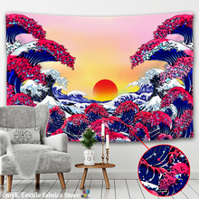 Japan Tapestry Dorm-Decor Kanagawa Great-Wave Wall-Hanging Bedroom with Art Nature