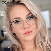 48286 oeil de chat Anti lumière bleue optique lunettes cadres métal femmes hommes TR90 mode ordinateur lunettes
