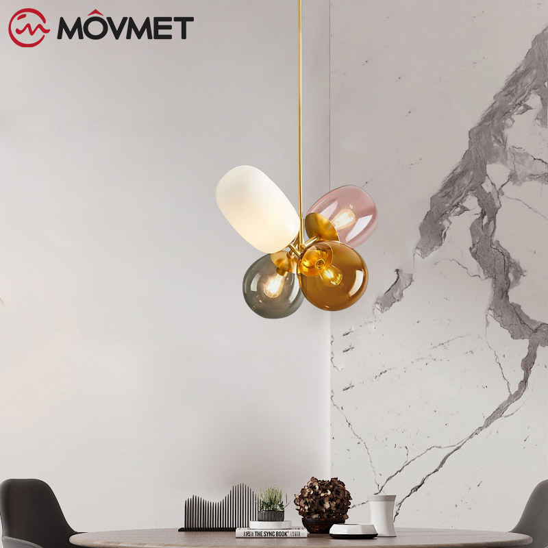Loft Modern Pendant Light Glass Ball Hanging Lamp Kitchen Light Fixture Dining Hanglamp Living Room Luminaire - 2