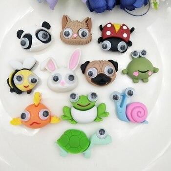 11 Uds nuevo lindo resina animales figurines en miniatura Flatback cabujón encanto DIY/artesanía Decoración Accesorios