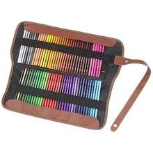 72 шт. индивидуальные цвета Премиум цветные карандаши набор с рулонным мешочком холщовая ручка сумка для школы офиса художника эскиз
