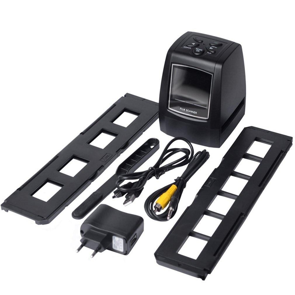 MINI 5MP 35 มม.135 มม.ฟิล์มสแกนเนอร์เชิงลบ Photo ฟิล์มแปลงสาย USB LCD สไลด์ 2.4