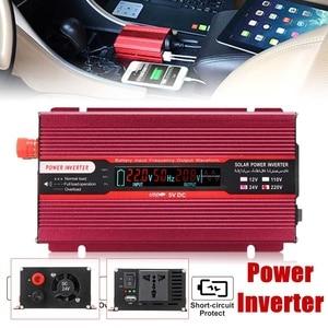 Car Inverter 2000W DC 12V/24V to AC 220V/110V Voltage Transformer Modified Sine Wave Solar Power Inverter Modified LCD Display