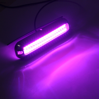 2x Purple Waterproof Light   2000LM 60LED Stainless Steel Trim Ring Boat Underwater Light Clear Lens Pontoon Marine/Boat Transom newest blue 27 led underwater boat marine transom lights stainless steel pontoon