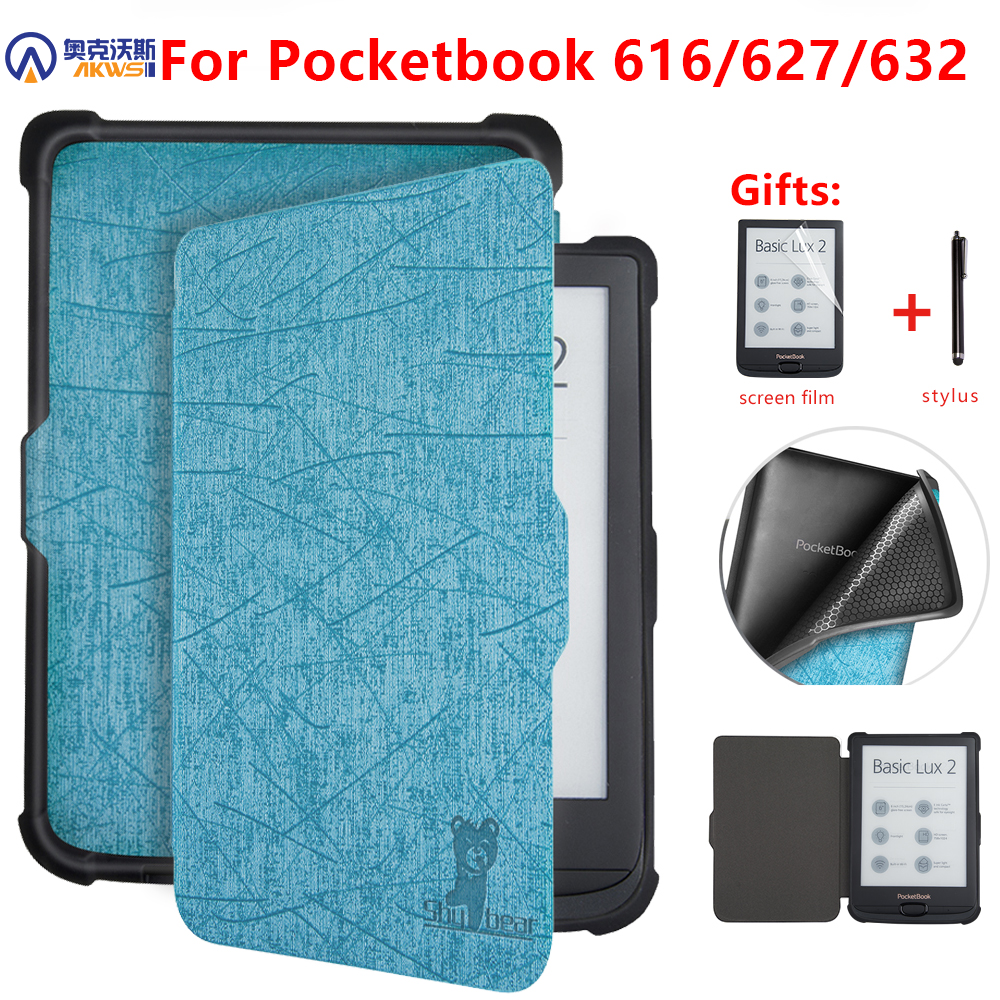 Housse pour Pocketbook 616/627/632 E-reader housse de sommeil pour Pocketbook Basic Lux 2/touch Lux/touch HD 3 e-book funda capa