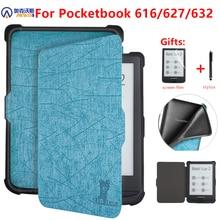Pocketbook 616/627/632 용 커버 케이스 Pocketbook 용 E reader 수면 커버 Basic Lux 2/touch Lux/touch HD 3 전자 책 funda capa