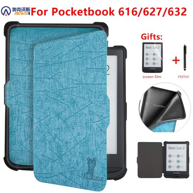 Pokrowiec na Pocketbook 616/627/632 e reader pokrowiec na Pocketbook Basic Lux 2/touch Lux/dotykowy HD 3 e book funda capa