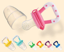 Baby Pacifier Safety Silicone Toddlers Baby Teether Vegetable Fruit Toddler Teething Toy Ring Chewable Soother Eat Food for baby(China)