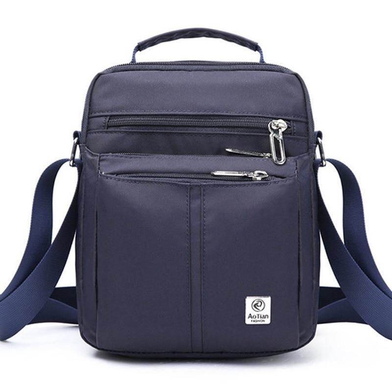 Men's Handbag Business Mini Briefcase Fashion Waterproof Shoulder Bag Crossbody Messenger Sac A Main Male Bolsa Handbags XA510ZC