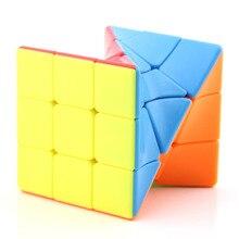 Сковорода новая скрученная трехслойная Кубик Рубика 3-Order формы сплошной цвет-бесплатно бумага Детская образовательная научная и образовательная