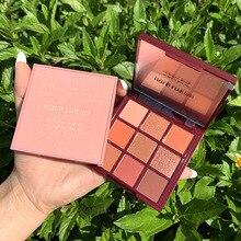 Honey peach eyeshadow powder9 colors velvet shimmer shinny m