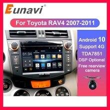 Eunavi 2 ディンアンドロイド 10 TDA7851 カーラジオdvdトヨタRAV4 rav 4 4 2007 2008 2009 2010 2011 gpsステレオdsp