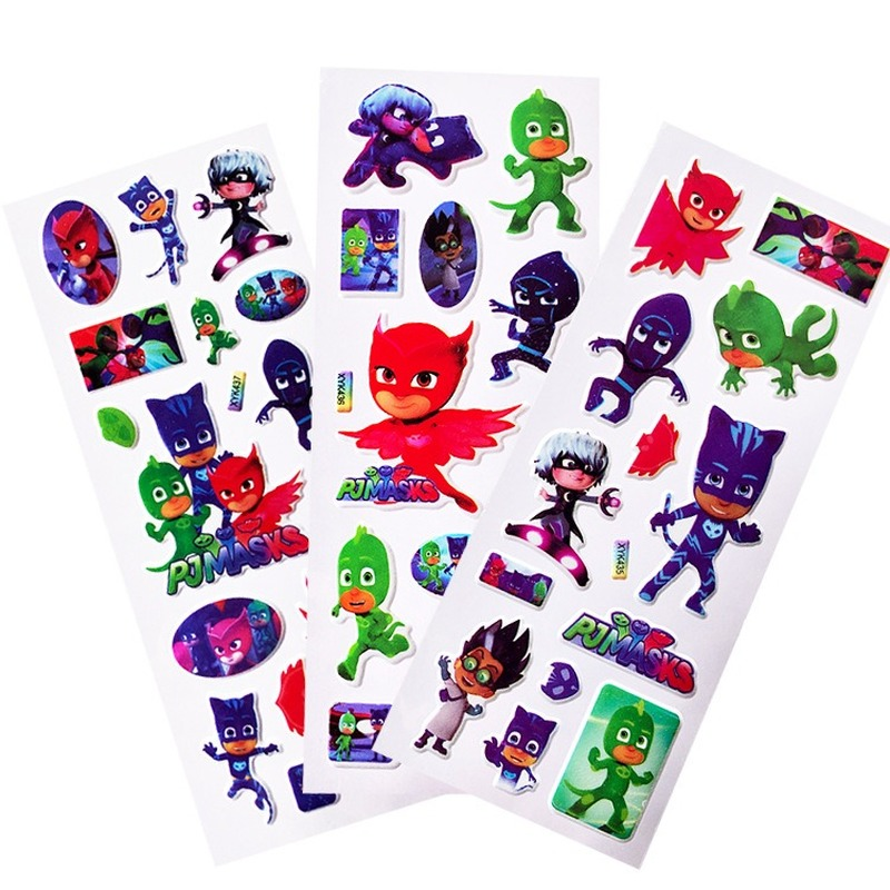 PJ Masks Stickers Catboy Owlette Gekko Random Pattern Children Paste Puzzle Pj Masks Action Figure Cartoon Stickers Gift For Kid
