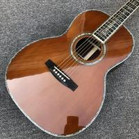 FACTORY CUSTOM,solid cedar top,00045 model,acoustic guitar red pine 100% all real abalone acoustic electric guitar free shipping