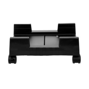Soporte de escritorio para CPU TORRE DE ORDENADOR ruedas rodantes ajustable, ancho, plástico ABS, negro