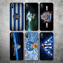Phone Case For FC Porto iphone DIY Shell Black Soft TPU Cover iPhone X XR XS MAX 7 8 7plus 6 6S 5S SE 5