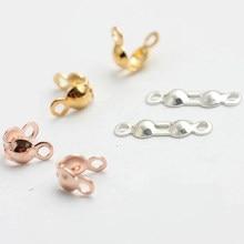 200 pçs/lote 7*4 milímetros Ouro Calotas Fim Crimps Beads Bola Cadeia Connector Fechos para Fazer Resultados Da Jóia Diy Handmade Atacado